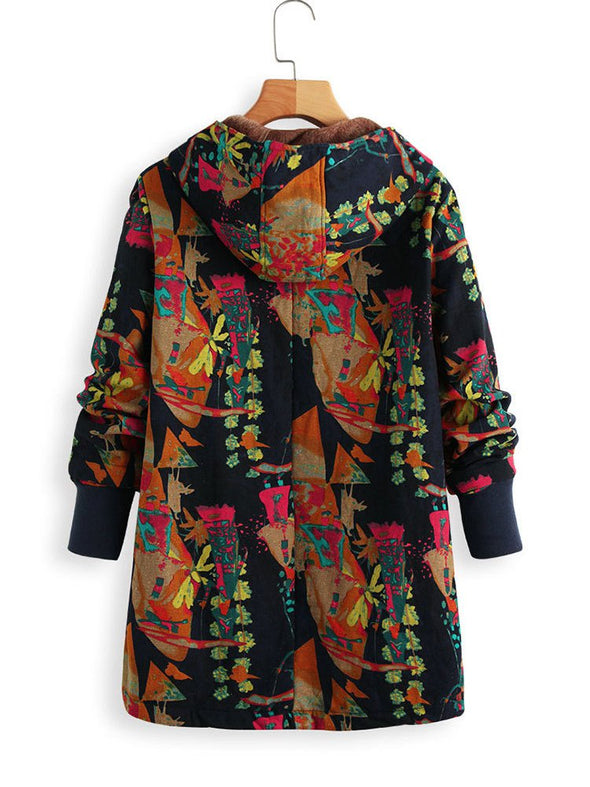 Casual Abstract Long Sleeve Outerwear