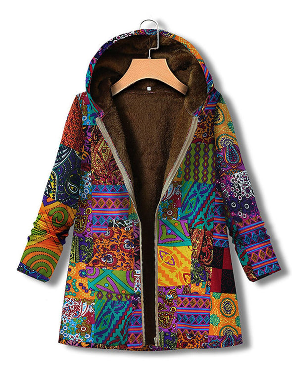 Hoodie Long Sleeve Vintage Abstract Outerwear