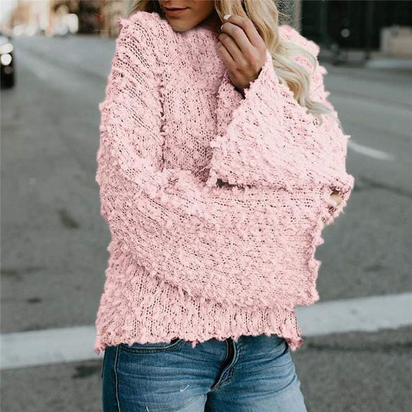 Casual O-Neck Long Sleeve Knitwear