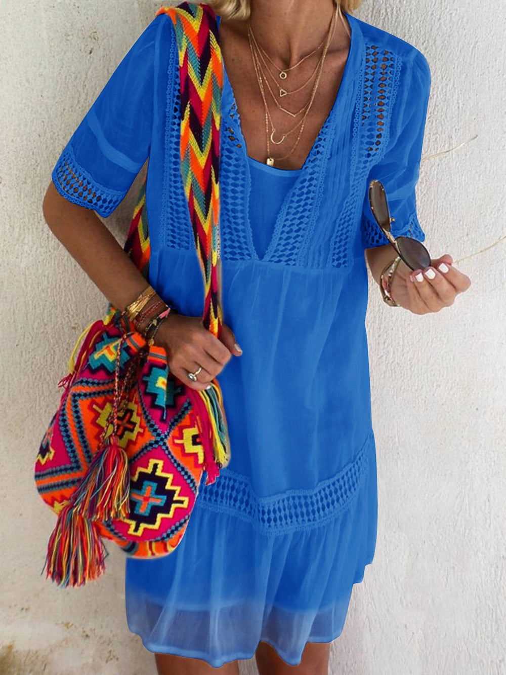 Casual Half Sleeve Summer Holiday Dresses