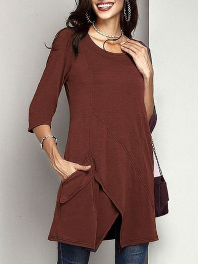 Casual Long Sleeve Cotton Knitwear
