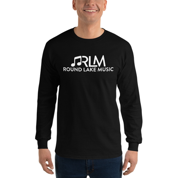 Round Lake Music (Black & White - Long Sleeve T-Shirt)
