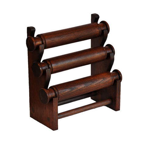 3-Tier Countertop Bracelet Display Rack - Walnut