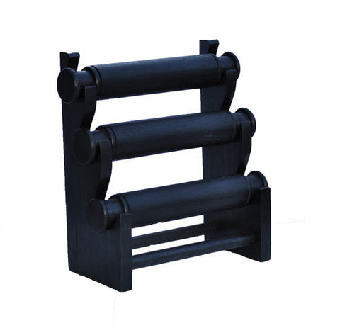 3-Tier Countertop Bracelet Display Rack - Black