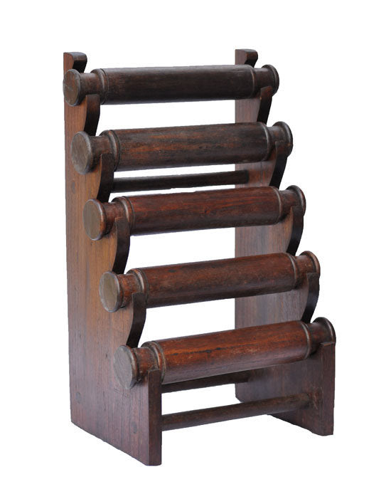 5-Tier Countertop Bracelet Display Rack - Walnut