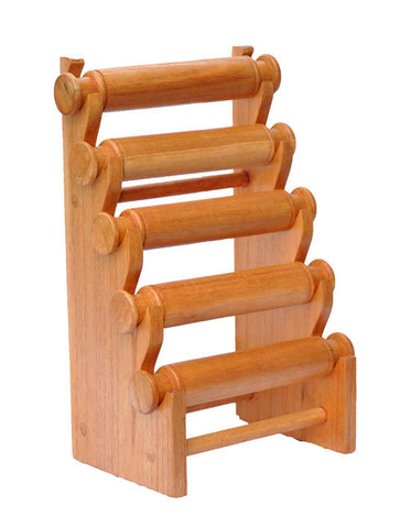 5-Tier Countertop Bracelet Display Rack - Natural