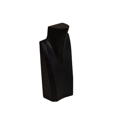 10 inch Solid Wood Neck Display Black