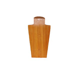 10 inch Solid Wood Neck Display Natural back