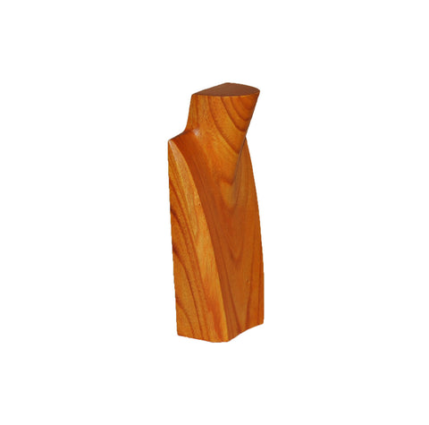 10 inch Solid Wood Neck Display - Natural