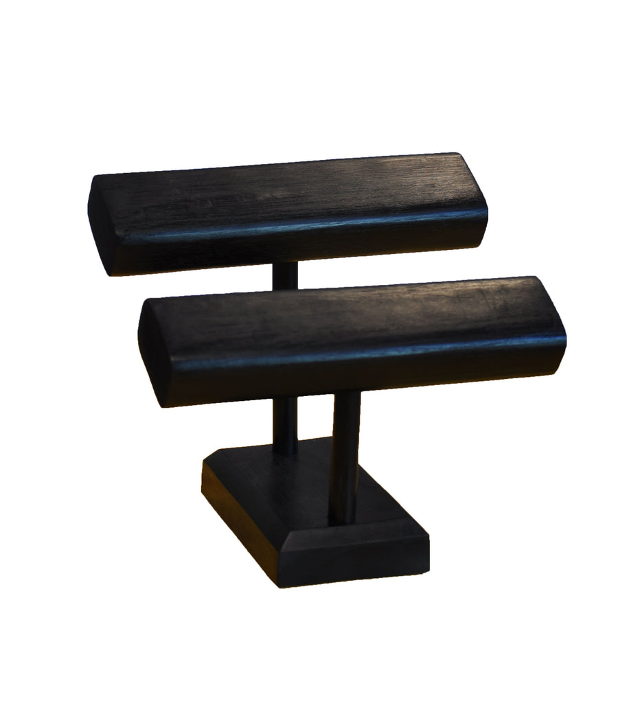 2-Tier T-Bar Bracelet Stand - Black