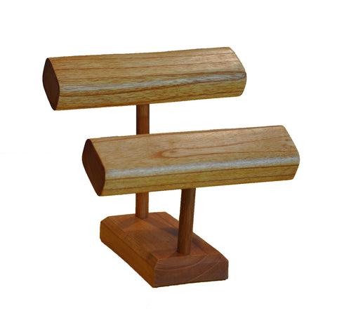 2-Tier T-Bar Bracelet Stand - Natural