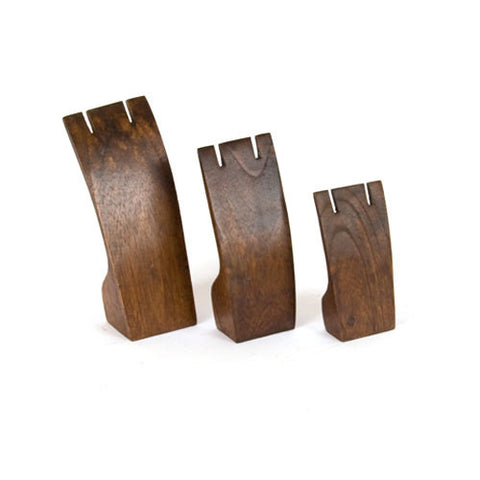 3-Piece Walnut Earring Display Set