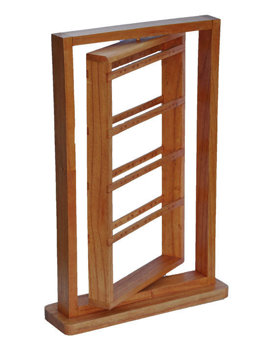 "20"" Rotating Earring Display Rack - Natural"