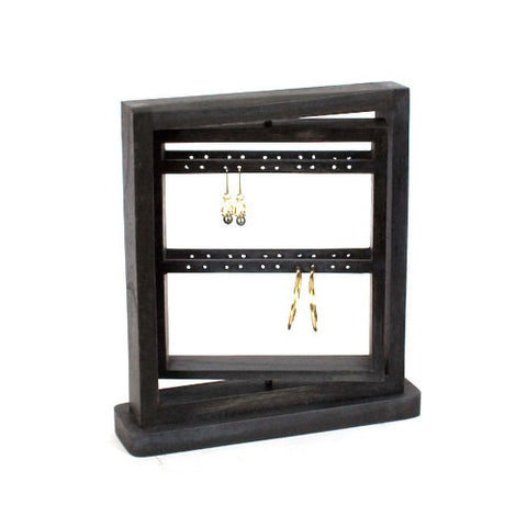 "12"" Rotating Earring Display Rack - Black"