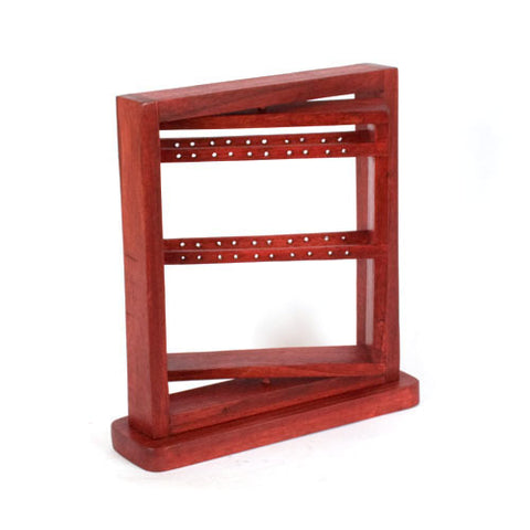 "12"" Rotating Earring Display Rack - Red"