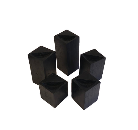 5 Piece Wood Ring Riser Set - Black
