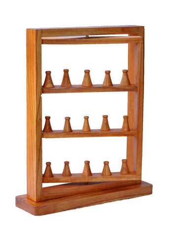 Rotating Ring Display Rack - Natural