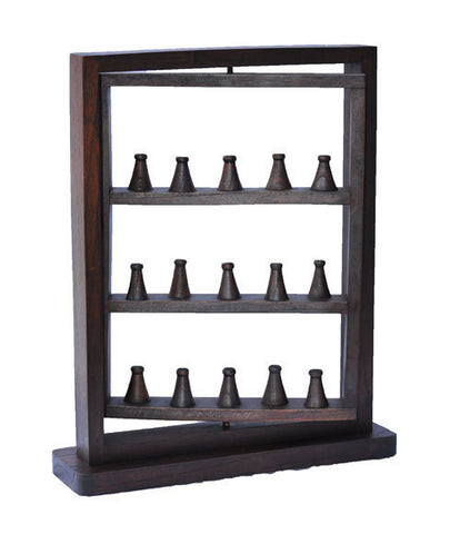 Rotating Ring Display Rack - Walnut