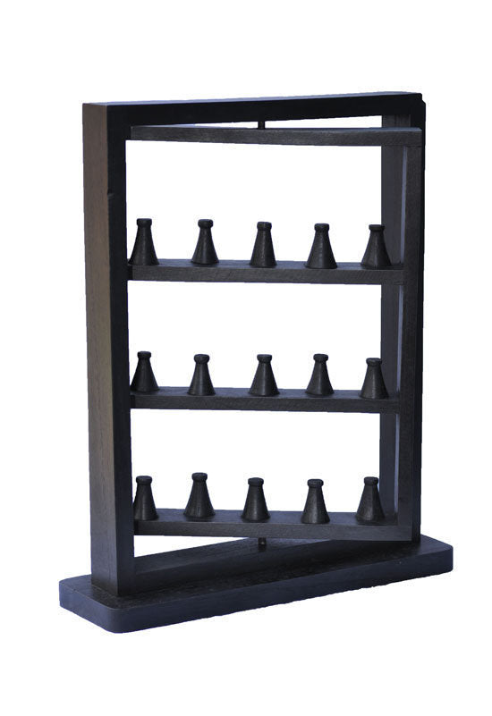 Rotating Ring Display Rack - Black