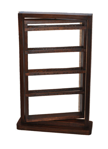 "20"" Rotating Earring Display Rack - Walnut"