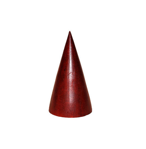 "6"" Wood Jewelry Cone Display - Red"