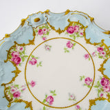 Antique Limoge Rosette Decorative Plate