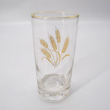 Vintage Gold Gilt Wheat Highball Glasses