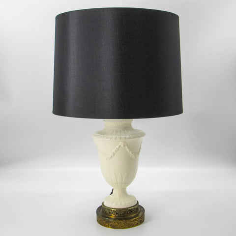Antique Wedgewood Inspired Porcelain Lamp