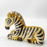 Vintage Hand Painted Carved Zebra