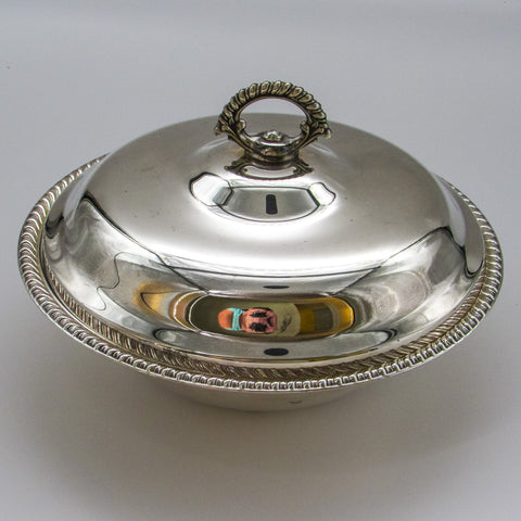 Silver Covered Serving Dish