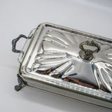 Silver Covered Casserole Dish