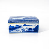 Blue and White Decorative Lidded Box