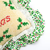 """Merry Christmas"" Needlepoint Pillow"