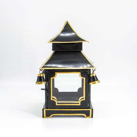Black and Gold Small Pagoda Lantern