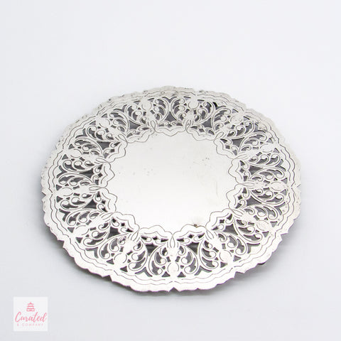 Silverplated Reticulated Trivet