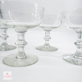 Vintage Glass Coupe Glasses