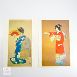 Asian Geisha Prints - Pair