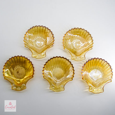 Hollywood Regency Shell Tidbit Plates
