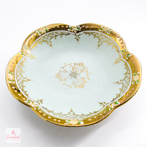 Antique Scalloped Trinket Dish