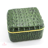 Green Faux Crocodile Box
