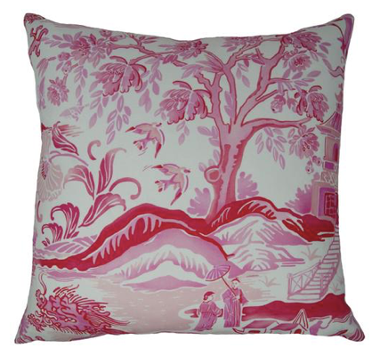 Gardens of Chinoise Pillow in Pink