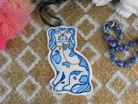 Handpainted Staffordshire Pup Ornament