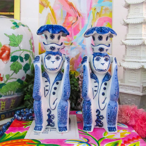 Hear No Evil Monkey Candle Stick Set