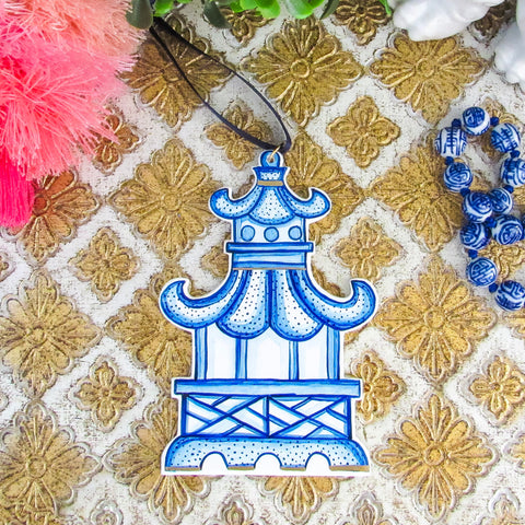 Handpainted Pagoda Ornament