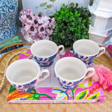 Vintage Blue Willow Coffee/Tea Mugs - Set