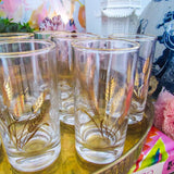 Vintage Gold Gilt Wheat Glasses