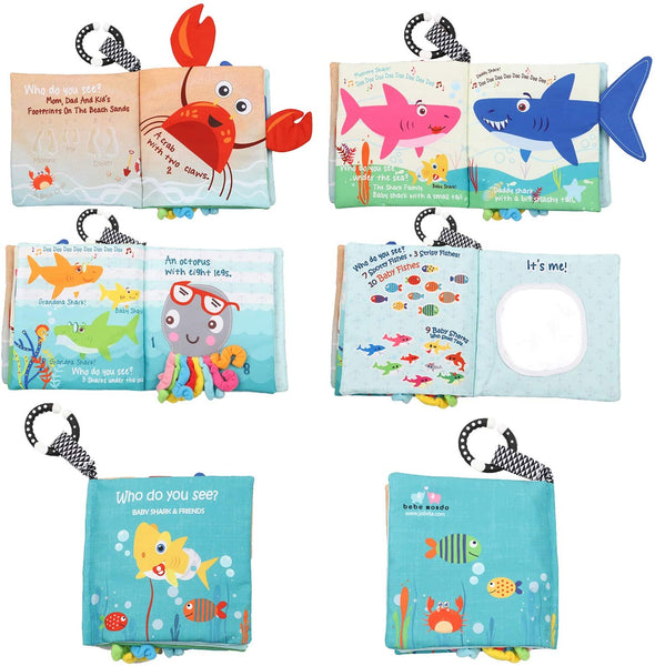 Baby shark soft activity book