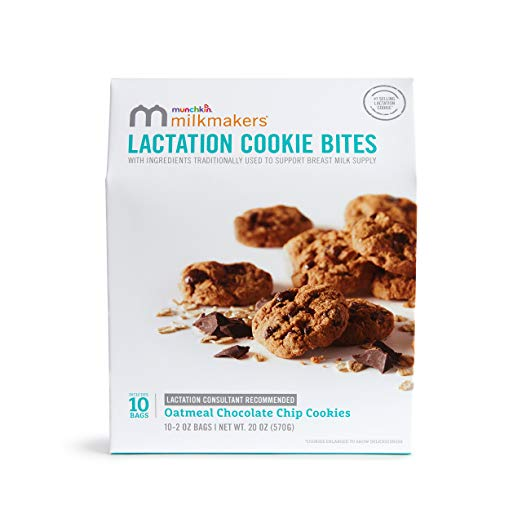 Lactation Cookie Bites, Oatmeal Chocolate Chip - 10 Bags