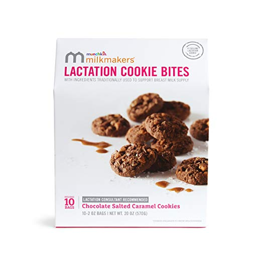 Lactation Cookie Bites, Chocolate Salted Caramel - 10 Bags