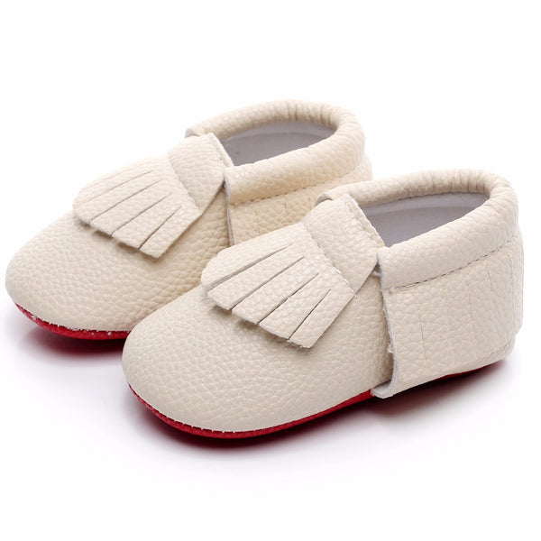 Newborn baby shoes - Off-white, 0-3 months